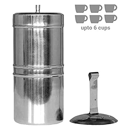 South-Indian drip Style Stainless Steel Coffee Filter 600ml / 6 Cups