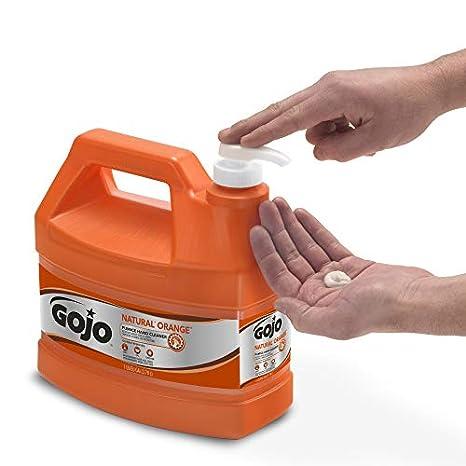 GOJO 0955 - 02 - Limpiador de mano naranja piedra pómez Natural, (1 Galón (2 unidades): Amazon.es: Amazon.es