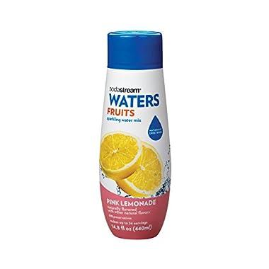 SodaStream Pink Lemonade Syrup, 14.8 Fluid Ounce
