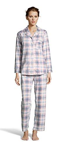 Kathy Ireland Womens Fleece Micropolar Button Down Pajama Shirt and Pants Sett Ivory Small