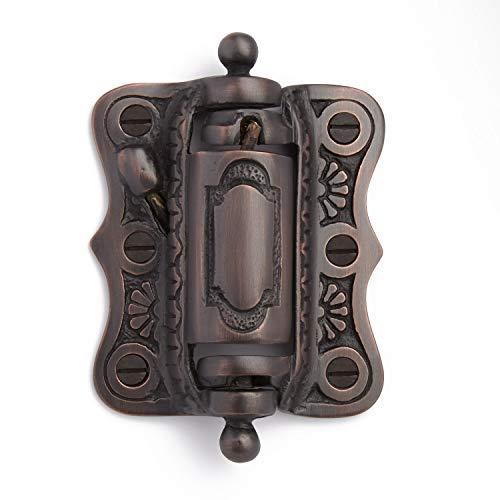 - Casa Hardware Solid Brass Self-Closing Victorian Screen Door Door Hinge - Oil Rubbed Bronze