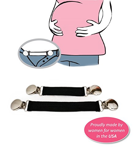 Belly Up! Bands--Maternity Waistband Extender, Pant Clips...
