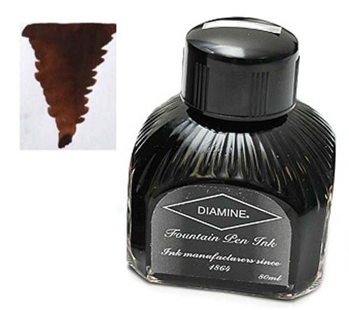 Diamine Refills Chocolate Brown Bottled Ink 80mL - DM-7057 Brown Bottled Ink Refill