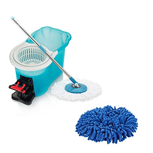 Hurricane 360 Spin Mop + Duster Mop Head 2 Pack by BulbHead