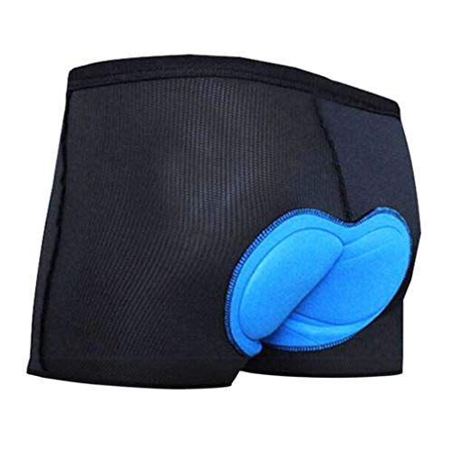 Haxikocty Men Bicycle Padded Shorts Cycling Underwear 3D Pad Underpants Lightweight Biker Underwear Shorts Sport Boxer Briefs (M, Black) ()