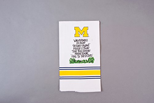 University of Michigan Hand Towel with Assorted Slogans by Magnolia Lane
