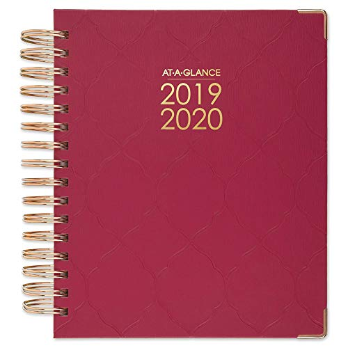 - AT-A-GLANCE 2019-2020 Academic Year Daily & Monthly Planner, Medium, 7