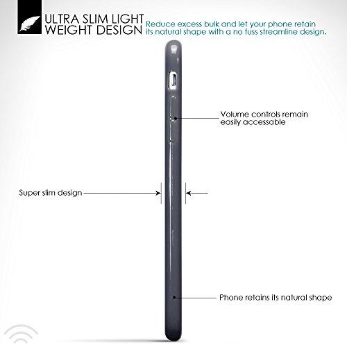 Terrapin TPU Gel Custodia per iPhone 7 Plus Skin, Colore: Grigio