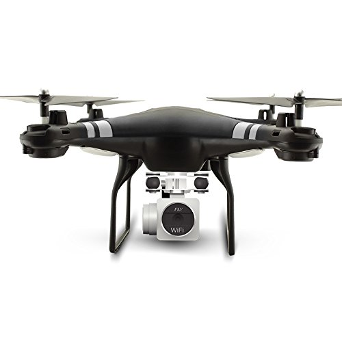 RC Drone RTF With 1080P HD Camera Quadcopter One Key Auto Return Height Holding-Blakc by KAIM