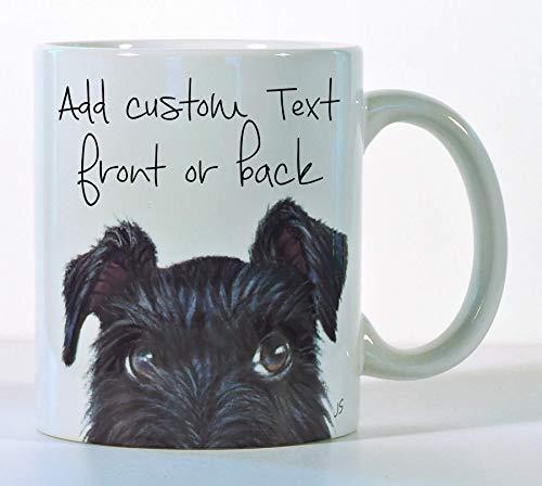 Schnauzer Coffee Mug, Black Schnauzer or Gray Schnauzer, Made to Order, Add Custom Text