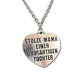 "Naszyjnik z napisem ""Stolze Mama einer großartigen Tochter"""
