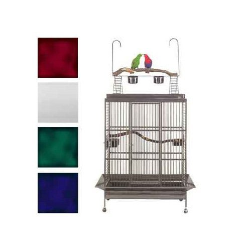 (Avian Adventures Grande Playtop Bird Cage, White )
