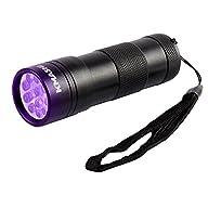 KMASHI 12 LED Pet UV Light Urine Stain Detector Blacklight Flashlight