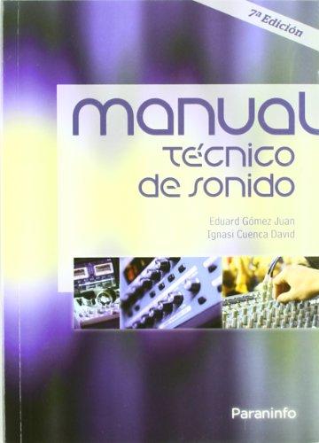 Descargar Libro Manual Técnico De Sonido Ignasi Cuenca David