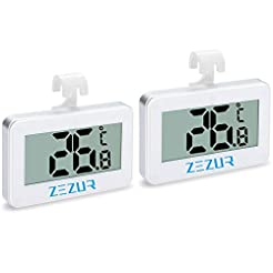 2Pack Refrigerator Thermometer, iBetterL...