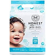 The Honest Company Baby Wipes - Pure and Gentle | Plant-Based | Alcohol, Fragrance and Paraben Free | Hypoallergenic Honest Wipes | 288 Count (Packaging May Vary)