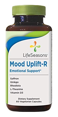 Mood Uplift-R – Positive Mood Booster – Enhanced Calmness and Happiness – Relaxed and Balanced Mind – Premium Ingredients – Contains Rhodiola, Ginkgo Biloba & Vitamin D-3 (60 Capsules)