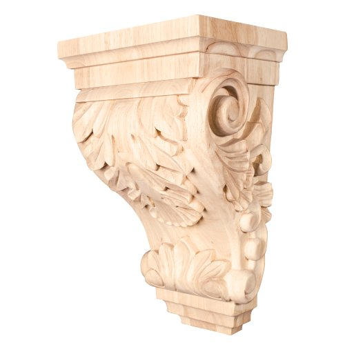 One Pair- Wide Acanthus Corbels- 8-1/4