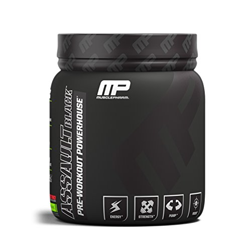 MusclePharm Assault Black Pre-Workout Supplement, Fruit Punch, 30 Servings