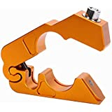 Redcolourful Motorcycle Handlebar Lock Brake Lever Throttle Grip Security Lock Anti Theft Protection Gold