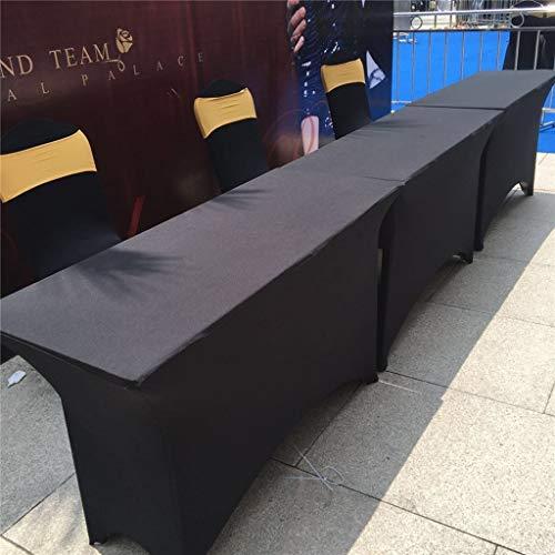 DKMOH Hushåll bordsduk 1,4 m rektangulär linneduk spandex anpassat bordsskydd för DJ bordsskydd bröllop bordsdukar rektangel massagedukar köksbord