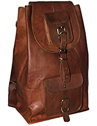 gbag(T) Leather Laptop Backpack School rucksack daypack leather Bag