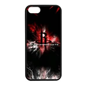 Fitted iPhone 5/5s TPU Case Houston Rockets Logo Background (Laser Technology)-by Allthingsbasketball