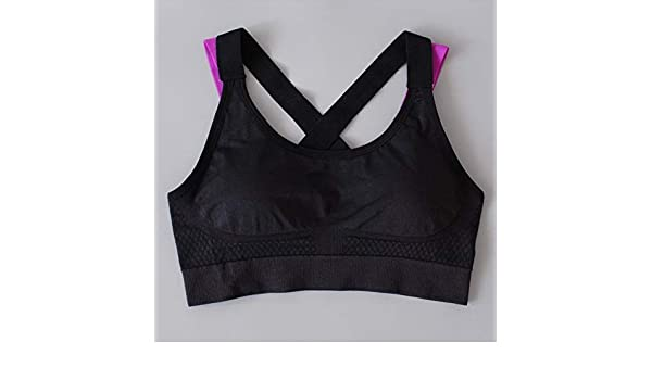 Amazon.com: RCD Online Womens Running Fitness Bra - Black, L: Sports & Outdoors