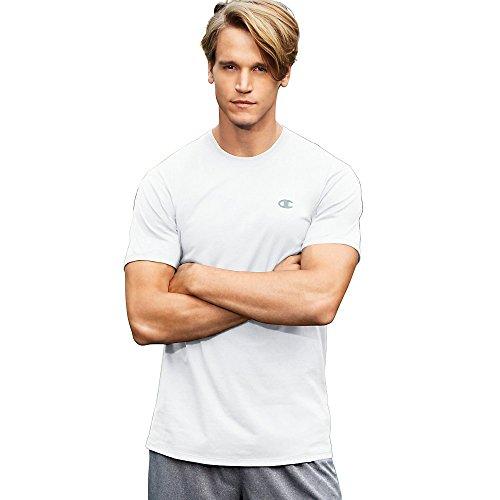 Champion Men's Double Dry Cotton Crew, White, (Champion Tennis Shoes)