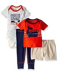 Gerber - Conjunto de 4 Piezas para bebé, pantalón Corto y Playera