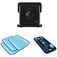 iRobot Braava 380t Floor Mopping Robot Bundle with Reservoir Pad and Mopping Cloths