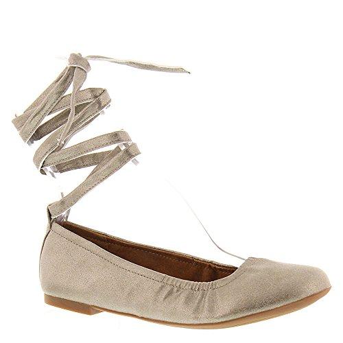 haben Gold BC Metallic flach ein Frauen Herz Schuhe Ballett qvTw1UCE