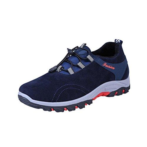 Unisex Uomo UOMOGO 44 da Tennis Sportive Donna Asia Outdoor Respirabile Ginnastica Blu Basse Sneakers Running Mesh Adulto Scarpe 74rw7qO