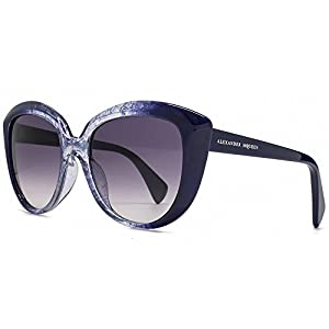 Alexander McQueen Oversize Cateye Sunglasses in Blue and Navy AMQ 4234/S 2JD 55
