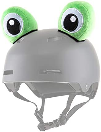 Parawild Frog Helmet Accessories w Sticky Hook Loop Fastener Adhesive Helmet not Included , Fun Helmet Eyes Ears Cover for Snowboarding, Skiing, Biking, Cycling, Skating for Kids and Adults
