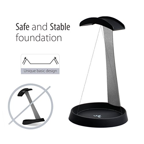 Avantree Aluminum Headphone Stand Headset Hanger with Cable