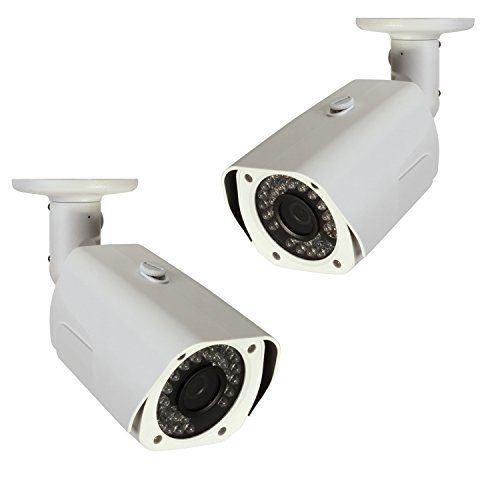 Q-See QCA7201B-2 720p High Definition Analog, Metal Housing, Bullet Security Camera 2-Pack (White)