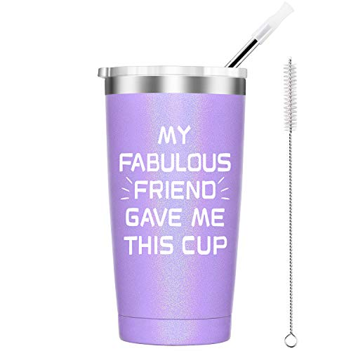 Funny Friendship Gifts for Women - Fabulous Gift for Friend - 20 Oz Insulated Stainless Steel Tumbler, Funny 21st 30th 40th 50th 60th Birthday Gifts for Women Ladies Girls Her Bestie Best Friend