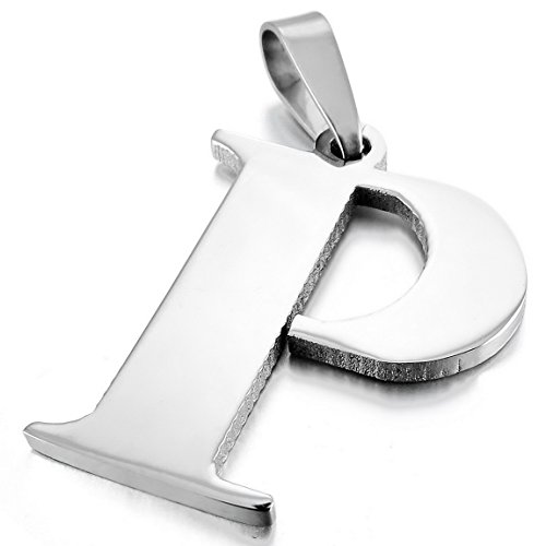 INBLUE Stainless Pendant Necklace Initial