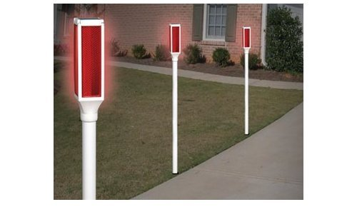 Set of 2 Solar Lighted Driveway Markers (Outdoor Driveway Lighting Markers)