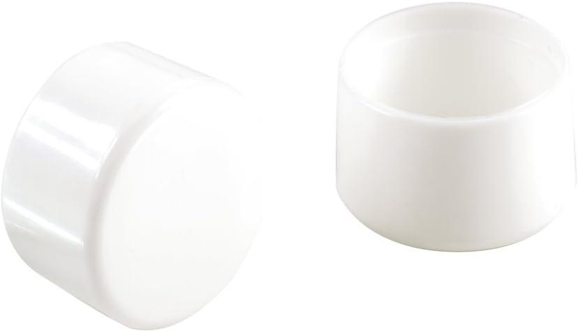 Shepherd Hardware 9107 Leg Tips 3/4-Inch Plastic Leg Chair Caps, 4-Pack, White