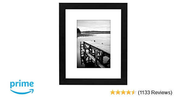 Amazon.com - 8x10 Black Picture Frame - Made to Display Pictures 5x7 ...