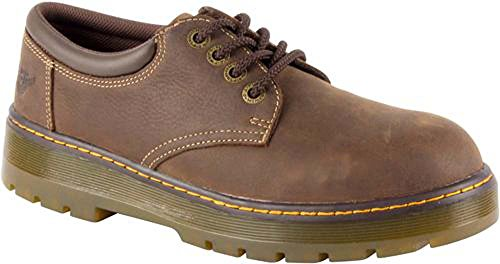 vet Steel Toe Work Boots, Brown Leather, 10 M UK, 11 M US (Dr Martens Work Shoes)