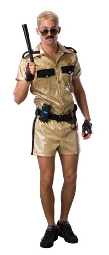 [Reno 911 Deluxe Lt.Dangle Costume, Gold, Standard] (Dangle Halloween Costume)