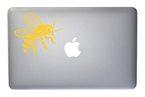 Bumble Bee Electronic (Buzzing Honey Bee Insect Bug Bumble Bee Vinyl Decal for Macbook, Laptop or other device 5 Inch (yellow) )