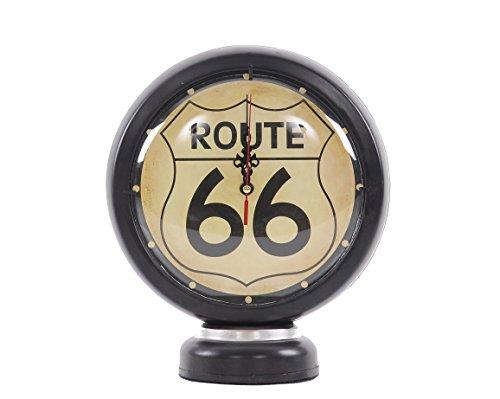 Old Modern Handicrafts Gasoline 66 Gas Pump Clock, Black