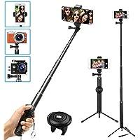 MWAY 2 in 1 Portable Bluetooth Phone Tripod Camera Selfie Stick