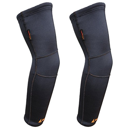 B-Driven Sports TITANIUM COMPRESSION ARM-KNEE SLEEVE - Infused Titanium Bio-Ceramic garment promotes natural FAR-Infrared Production for muscle joint healing, deep tissue warming, and pain relief. by B-Driven Sports