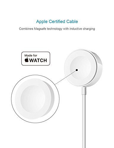 IQIYI Apple Watch Charger, Apple MFi Certified, 1.0ft(0.3M) Magnetic Charging Cable Cord for Apple Watch/iWatch Series 1/2/3 (38mm & 42mm) Portable Charger by IQIYI (Image #1)