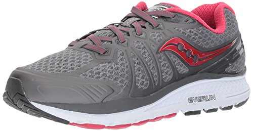 Saucony Women's Echelon 6 Running Shoe, Grey Pink, 7.5 Medium US